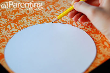 Fun paper pumpkin tutorial step 2
