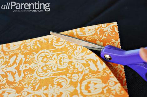Fun paper pumpkin tutorial step 3