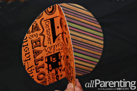 Fun paper pumpkin tutorial step 5