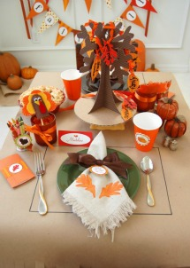 Fun and festive kids table