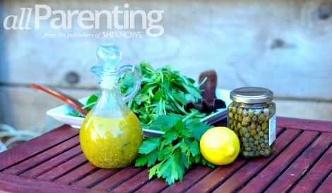 Lemon caper vinaigrette