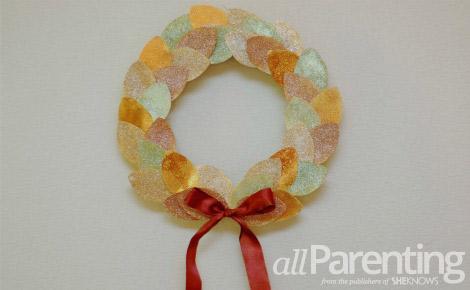 DIY fall glitter wreath final