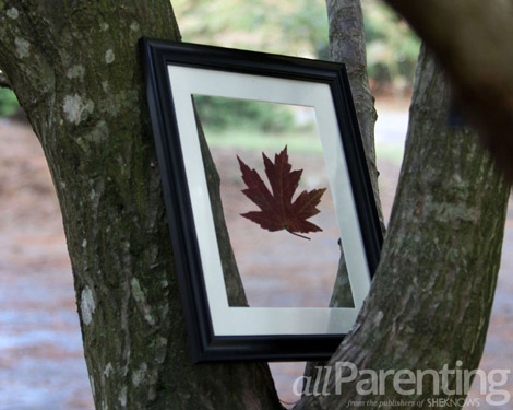 autumn leaf DIY art