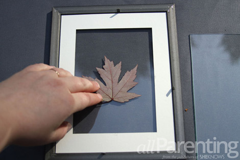 framed art leaf step 2