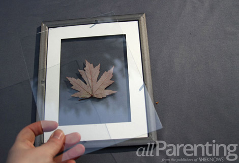 framed leaf art step 3
