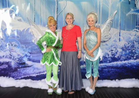 Laura Willard with TInkerbell and Periwinkle