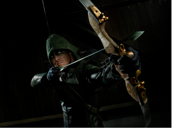 The hooded hero in Arrow