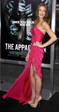 Ashley Greene red carpet moment in Fuschia Donna Karen
