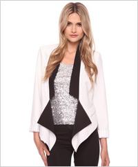 Contrast front draped blazer