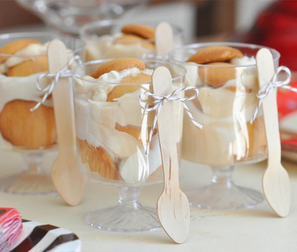 decoración comida baker's twine