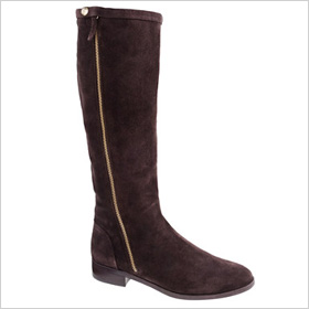 high-shaft suede boot