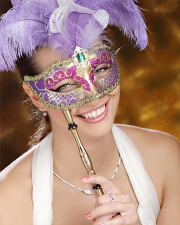 Bride wearing mask