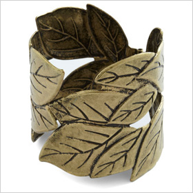 fall-inspired brass cuff
