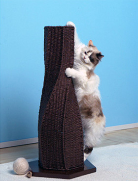 Designer furniture for cat lovers - Modern cat scratcher ...
