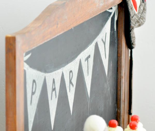 Chalkboard | Sock monkey themed party