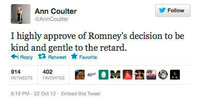 Ann Coulter twitter screenshot