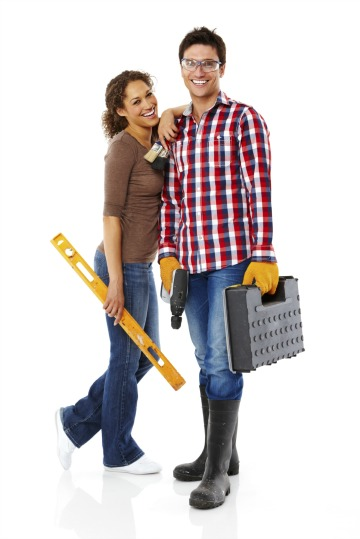couple doing home improvements