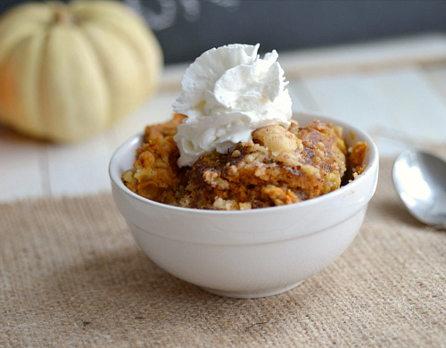 Crock pot pumpkin pie