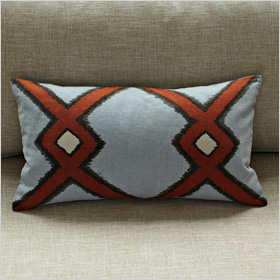 diamond ikat pillow cover