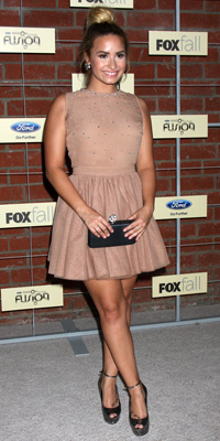 Demi Lovato at Fox fall upfronts
