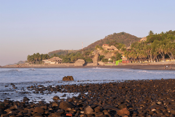 Tunco beach in El Salvador