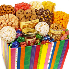 Bright Stripe Jumbo Sampler from The Popcorn Factory®