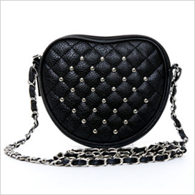 2b studded heart crossbody, $24, 2bstores.com