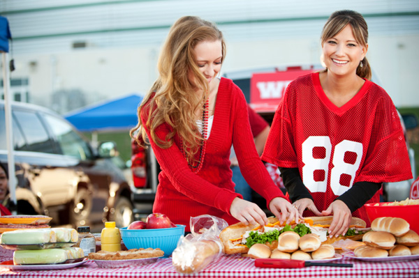 Friends tailgaiting