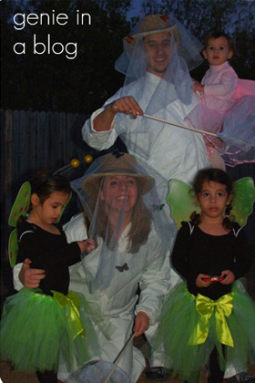 Butterflies and catcher family halloween costume