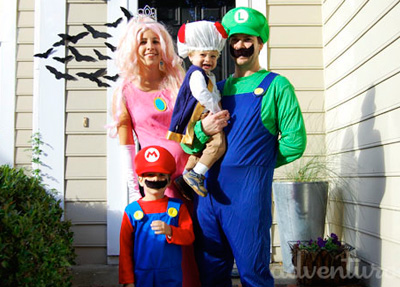 Mario Brothers Halloween family costume