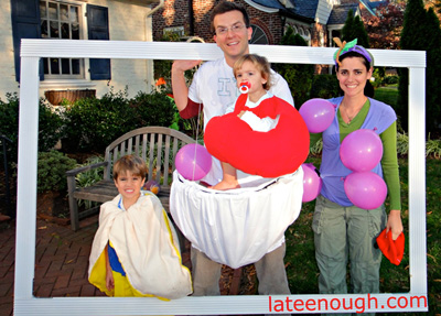 Still life family halloween costume