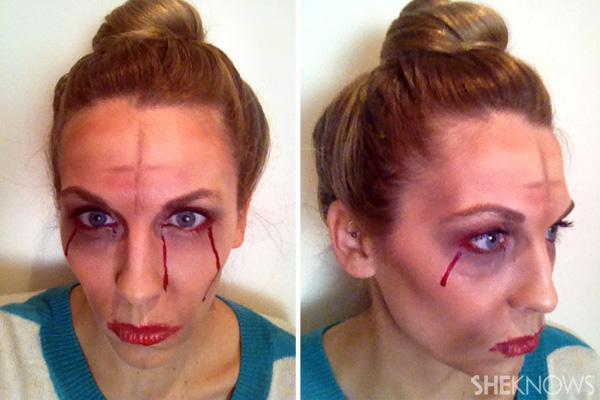 Zombie Marie Antoinette makeup