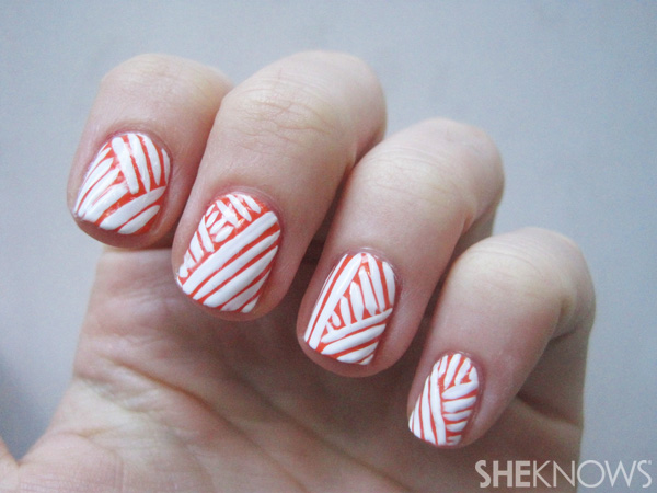 Mummy-wrapped nails -- step 4
