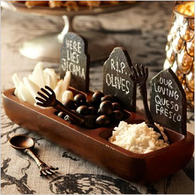Tombstone condiment set