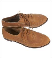 Topshop MATHS Tan Leather Brogues, $60