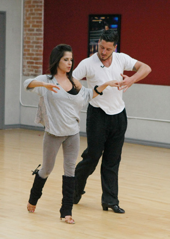 Kelly and Val Chmerkovskiy