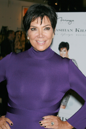 Kris Jenner shows off a nipple