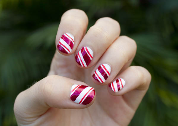 Get Candy Striped Nails