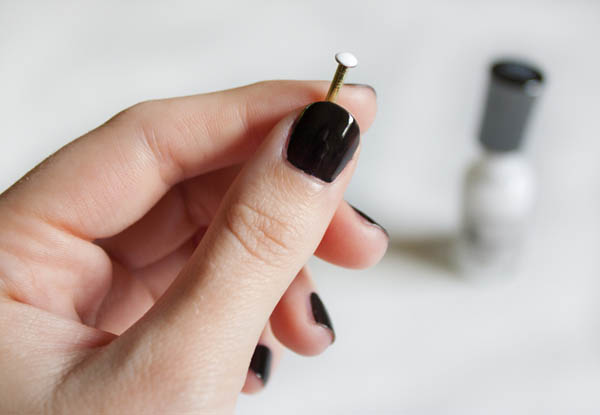 Use a nail for nail art