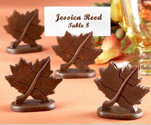 Classic Maple Leaf Place Card Holders