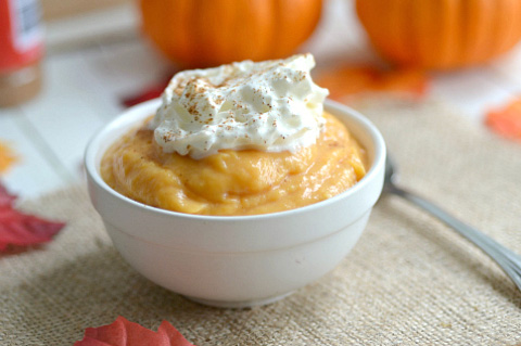 low fat pumpkin pudding