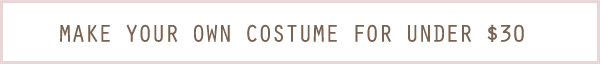 Make your own Halloween costume for under $30