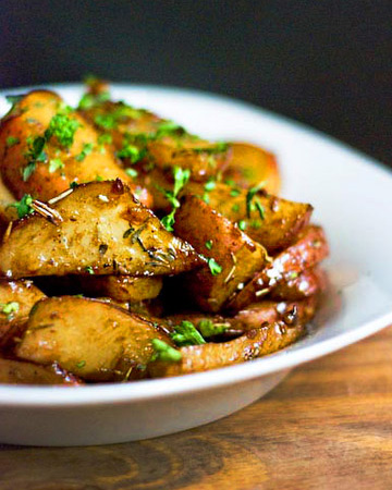 Maple targon roasted potatoes