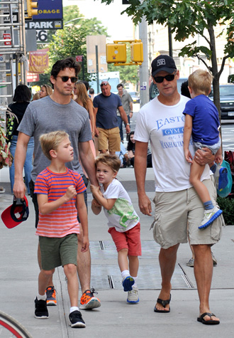 Matt Bomer with family