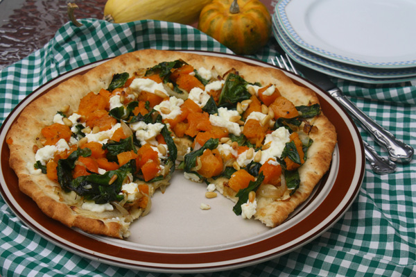Meatless Monday: Butternut squash and Swiss chard pizza