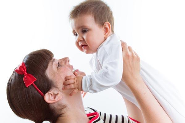 Nanny holding a baby