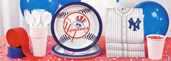 Yankees party pack from the Oriental Trading company