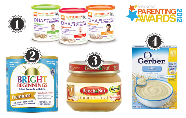 Parenting Awards baby's first foods
