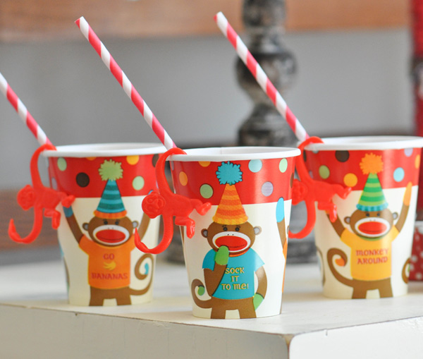 Party supplies | Sock monkey themed party
