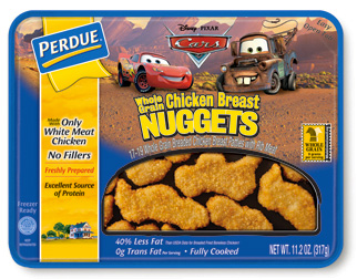 Perdue Whole Grain Breaded Lightning McQueen and Mater Chicken Nuggets